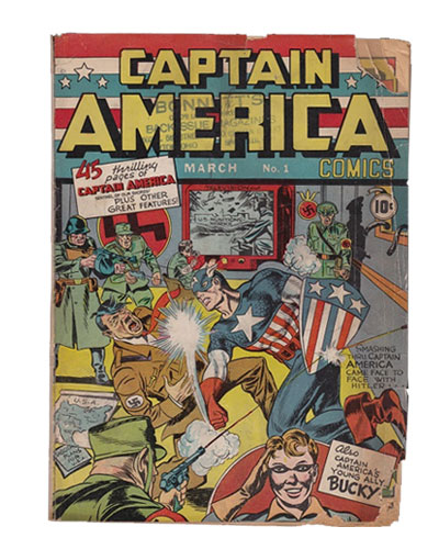 Comic Book Restoration - Captain America BEFORE